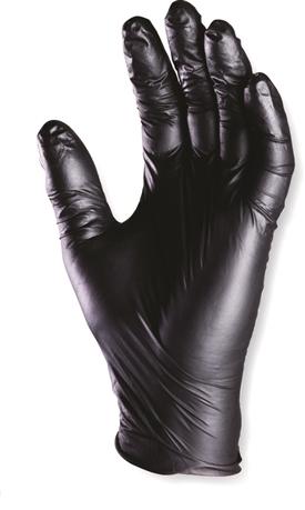 100 pièces polyacrylonitrile jetables gants noir puderfrei s-xxl des gants jetables