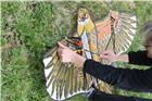 Cerf volant rapace effaroucheur avec mât 3,7 m
