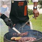 Pince à viande en inox de 53 cm