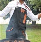 Tablier tissu ciré et cuir idéal pour tous les rois du barbecue