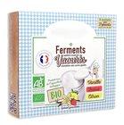 Ferments lyophilisés bio pour yaourts maison 3 parfums vanille fraise citron
