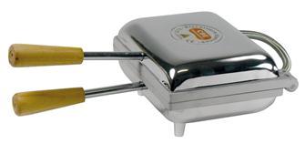 Gaufrier électrique rectangulaire avec plaques sans revêtement