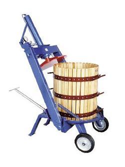 Pressoir hydraulique manuel à étrier 327 litres 70 cm
