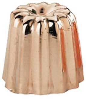 Moule à cannelé grand modèle en cuivre étamé