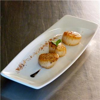 Recette des noix de St Jacques par le chef Tenailleau