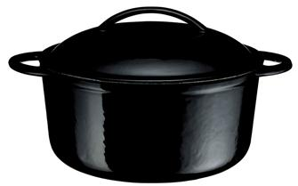 Cocotte en fonte ronde noire 23 cm 3 litres