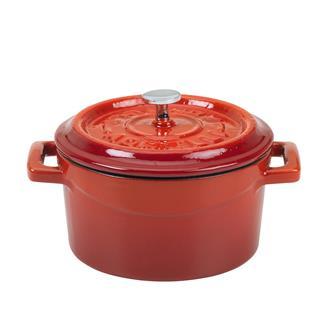 Petite cocotte 14 cm rouge en fonte
