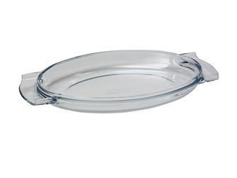 Couvercle en pyrex pour cocotte ovale 32x21 10 l. fonte alu antiadhésive
