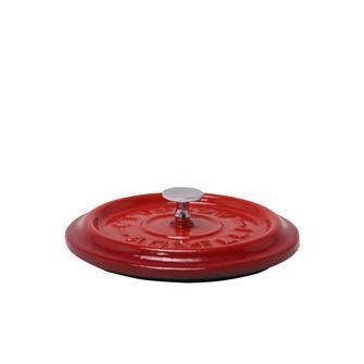 Couvercle rond rouge en fonte