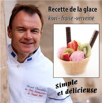 Recette de la glace kiwi fraise et verveine
