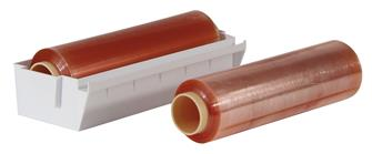 Dévidoir ABS avec 2 bobines de film étirable 30 cm x 500 m.