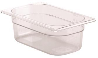 Bac gastro sans BPA GN 1/4 h. 10 cm en copolyester
