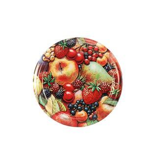 Capsules Twist-off décor fruits mat 63 mm par 10