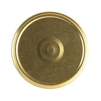 Capsules twist off dorées de 100 mm de diamètre par 20