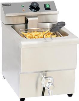 Friteuse électrique 8 litres avec robinet