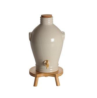Vinaigrier en grès écru 3 litres