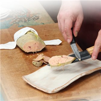 Foie gras mi-cuit sous vide à basse température