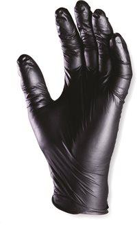 Gants en nitrile noir jetables non poudrés T10 XL (par 100)