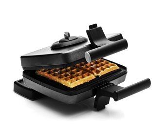 Gaufrier avec plaques de 15x9 cm et 2 thermostats pour cuisson simultanée des deux faces
