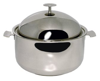 Faitout Baumstal inox induction 28 cm avec cloche