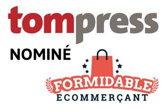Communiqué : Tom Press nominé Formidable Ecommerçant