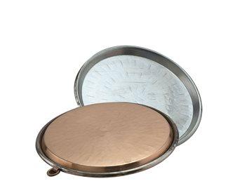 Plat à socca en cuivre 36 cm
