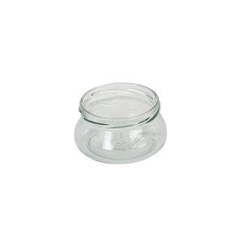 Pot verre bombé avec anses de 218 ml par 18