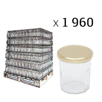 Palette de pots de confiture 370 g par 1960 pièces