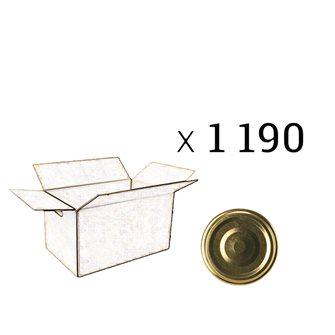 Capsules dorées twist-off 70 mm par 1 190