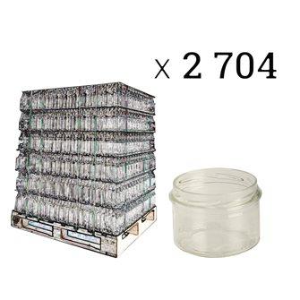 Pot à pâté en verre twist off 190 g. par palette de 2704