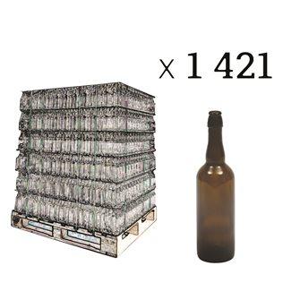 Palette de 1421 bouteilles fumées pour bières