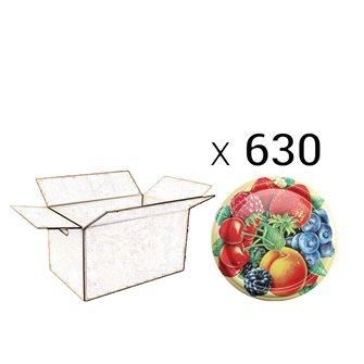 Capsules twist-off 82 mm décor fruits par 630 pcs