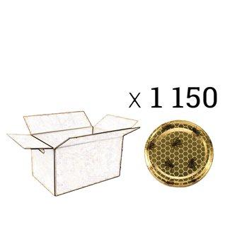 Capsules Twist-off miel abeille Diam 63 par 1150