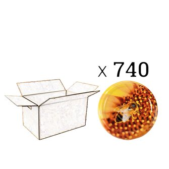 Capsules Twist-off miel Ape su polline Diam 82 par 740