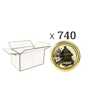 Capsules Twist-off miel ruche Diam 82 par 740