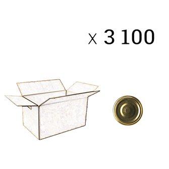 Capsules de diamètre 43 mm par carton de 3400