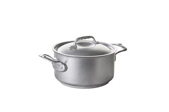 Faitout inox induction 24 cm avec couvercle Nostalgy De Buyer