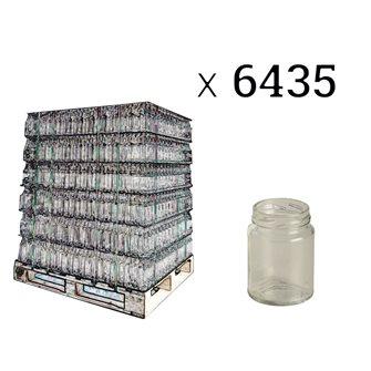 Pots en verre cylindriques 106 ml par palette de 6435