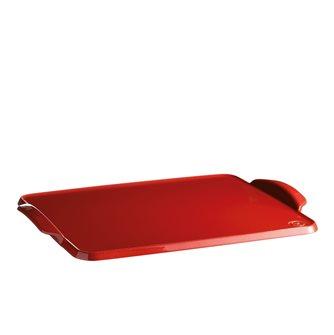 Planche à four céramique Emile Henry couleur rouge Grand Cru