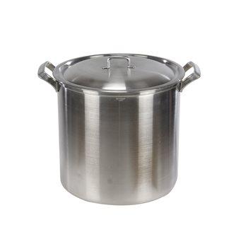 Marmite aluminium à bord carré et poignées aluminium diamètre 32 cm