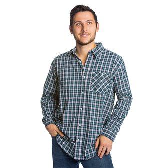 Chemise homme Bartavel Toscane bleue petits carreaux XL