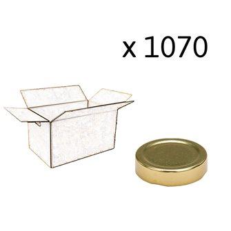 Capsule pour Bocal Jupe Haute diam 58 mm couleur or par 1070