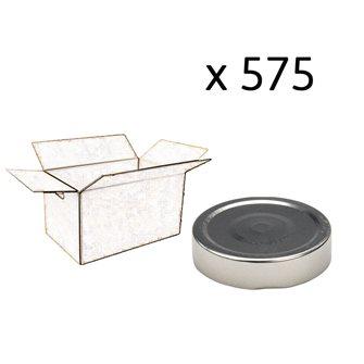 Capsule pour Bocal Jupe Haute diam 70 mm couleur argent par 575