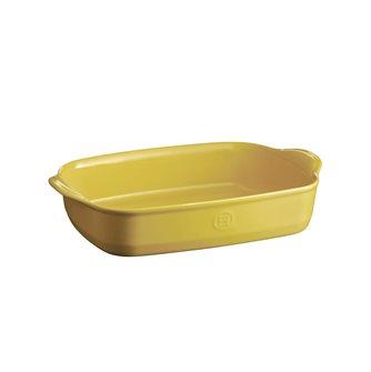 Plat à four rectangulaire 36 cm céramique Ultime Emile Henry couleur jaune Provence