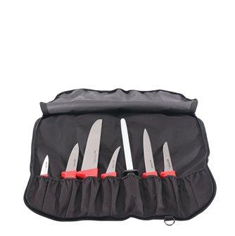 Pochette Tom Press 6 couteaux 1 fusil pour la viande fabriqués en France