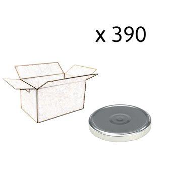 Capsules twist off couleur argent de 100 mm de diamètre par carton de 390
