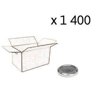 Capsules twist off couleur argent de 63 mm de diamètre par carton de 1400