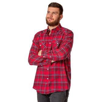 Chemise canadienne de bûcheron homme L rouge Abilène Bartavel