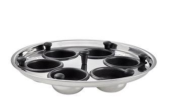 Pocheuse 6 œufs inox et antiadhésive SCANPAN pour sauteuse Bistro TechnIQ 26 cm
