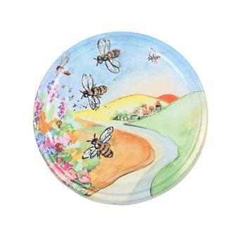 Capsules Twist-off dessin paysage abeille 82 mm par 10